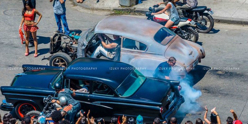 Fast and Furious 8 in Havana City